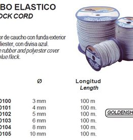 Elastiek / Shock cord 3 tot 10 mm per meter