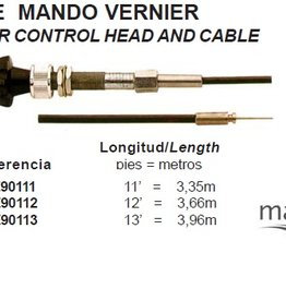 VERNIER CONTROL HEAD AND CABLE maxflex