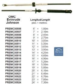 Schakelkabels afstandsbediening kabels OMC Jonhnson Evinrude