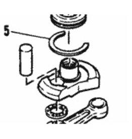 Mercury/Mariner SNAP RING cranckshaft 53-82937M