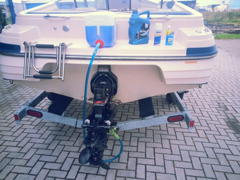 Inboard motor winterklaar maken flush kit inclusief, Fuel stabilizer