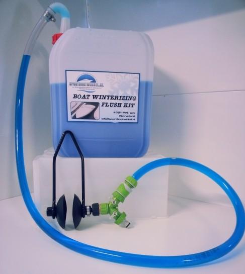 Inboard motor winterklaar maken flush Kit