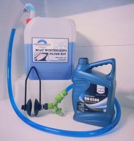 Inboard motor winterklaar maken flush Kit Incl 5 Liter koelvloeistof
