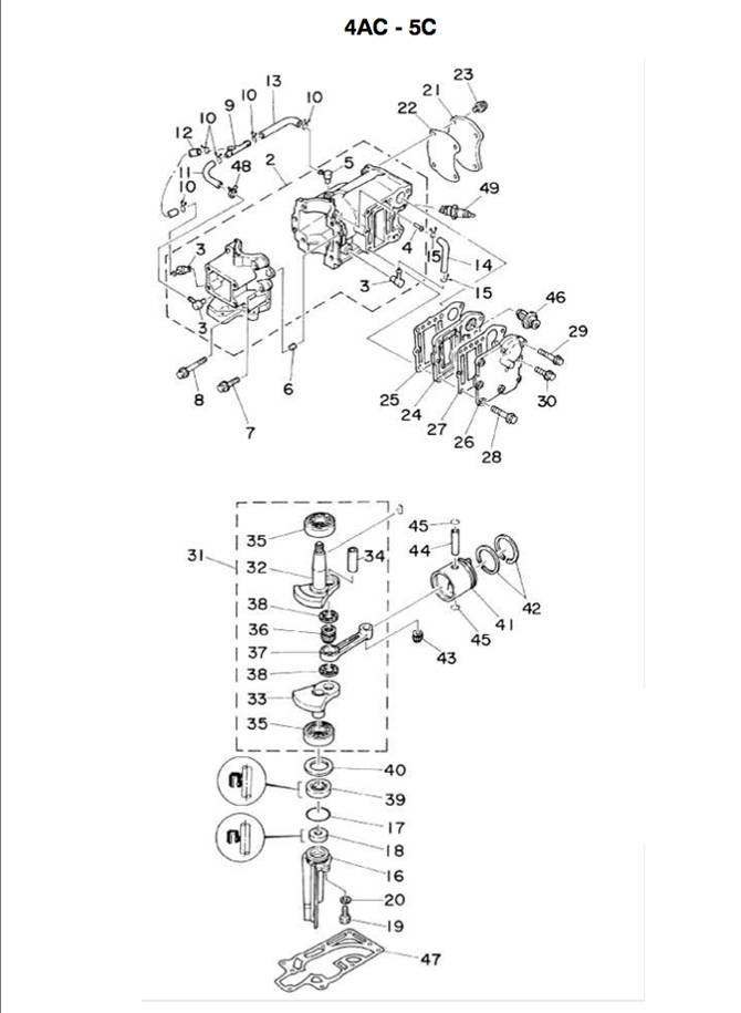 1X 50 Grad AußEnborder Thermostat Ersatz für Yamaha Honda 6 PS Bis 40 PS 2-T M5R