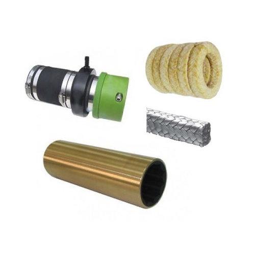 Schroefas lagers -Brass bearings / bussen en shaft seals / vetkoord