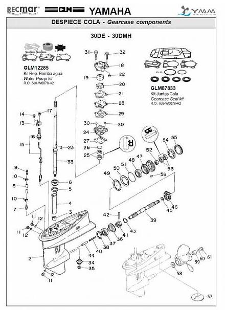 groot aanbod 25 pk en 30 pk staart onderdelen bestel