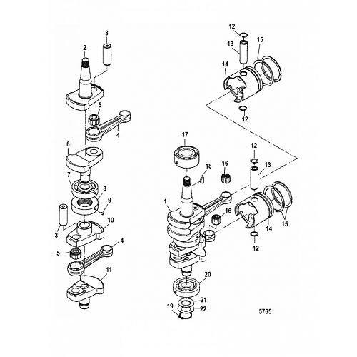 Mercury / Mariner Motorblok onderdelen
