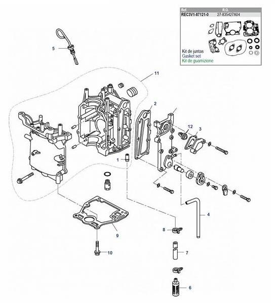 New Mercury Mercruiser Quicksilver Oem Part # 855676002 Thermostat