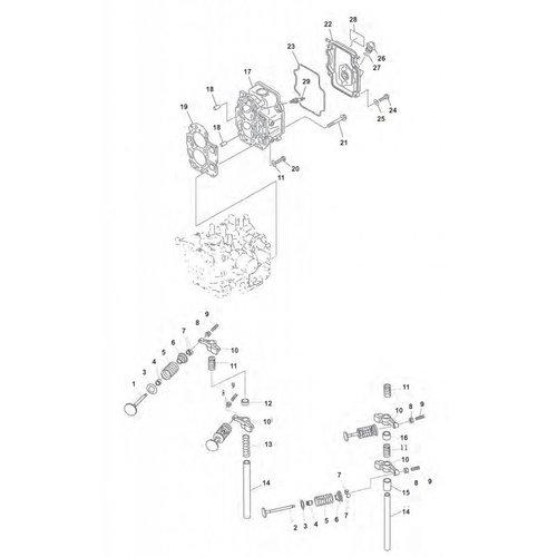 Mercury / Mariner / Yamaha / Parsun / Tohatsu 8 tot 15 pk 4T 98-07 (323cc) cilinderkop parts