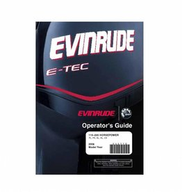 Evirude E-tec operator's guide 115-200 pk PL, PX, SL, BX, HL, CX 2008