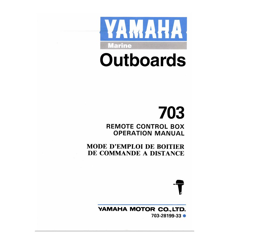 Wiring Diagram Manual For Yamaha 703 Control Detailed Diagrams 90hp 2 Stroke Outboard Remote Box Operation Somurich Com Engine