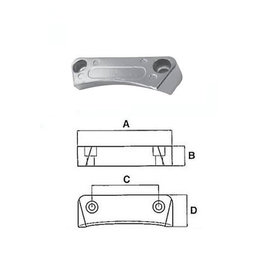 Volvo Penta Anode Plate DPH-DPR System Drives Zink/Alluminium 3588745