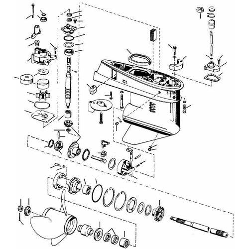 Johnson Evinrude staartstuk onderdelen