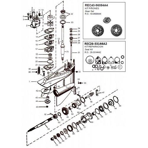 Mercruiser Gear housing components MC1/R