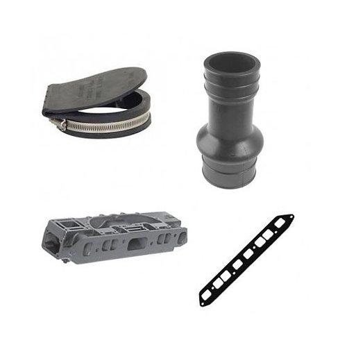 Mercruiser 4 cil. uitlaat elbows en overige onderdelen