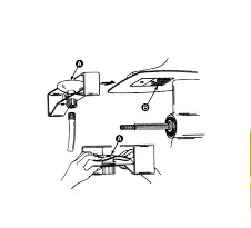 Oordop / Water inlaat / Flushing kit voor motor spoelen (12612Q2)