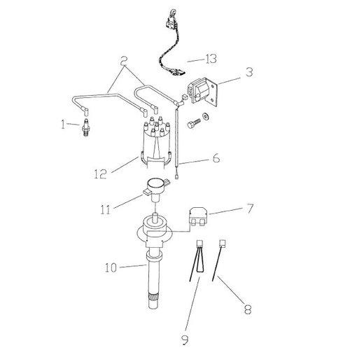GM distributie onderdelen / distribution parts  181 CID, 3.0L & 250 CID, 4.1L