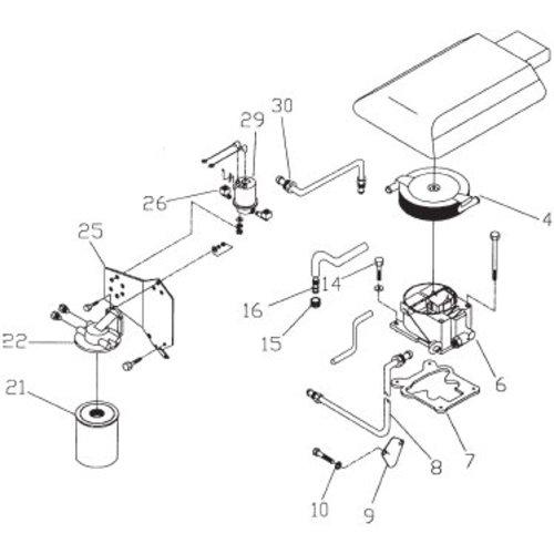 GM fuel system -benzine systeem onderdelen  262 CID, V6, 4.3L