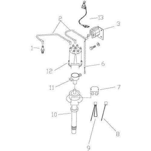 GM distributie onderdelen Mercruiser/OMC/Volvo 262 CID, V6, 4,3L