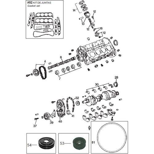 GM General motor blok Big Block onderdelen V8, 7.4L & 8.2L