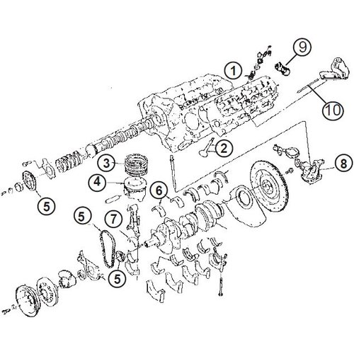 General Motor Ford Motor Blok / Block Engine 302/5.0L en 351/5.6L