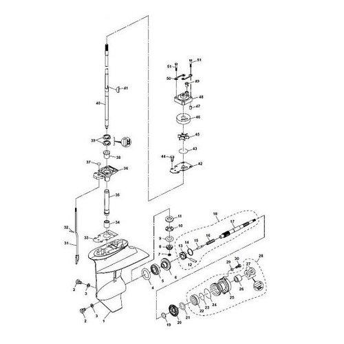 Parsun Buitenboordmotor F20A (F15A) BM (FW) onderdelen