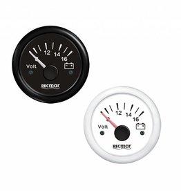 Voltmeter Zwart/Wit 8-16V