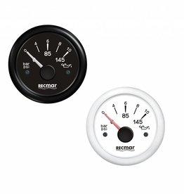 Olie druk meter Zwart/Wit 5/10 bar 10-184ºC