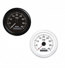 Toerenteller Zwart/Wit 0/4000 RPM