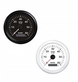 Toerenteller Zwart/Wit 0/6000 RPM