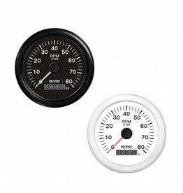 Toerenteller Zwart/Wit 0/8000 RPM