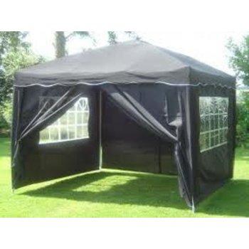 Zwarte tent 3 x 3 meter