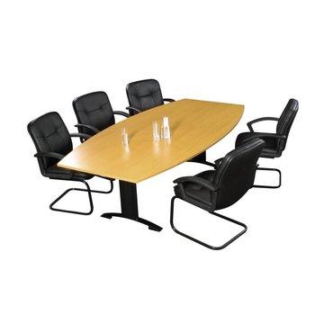 Vergadertafel met stoelen