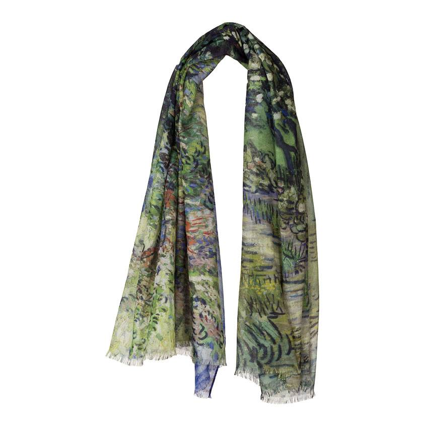SCARF 'THE GARDEN OF THE ASYLUM' VINCENT VAN GOGH