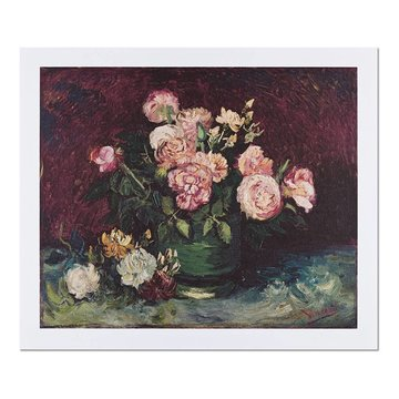 Reproductie 'Rozen en pioenen' - Vincent van Gogh