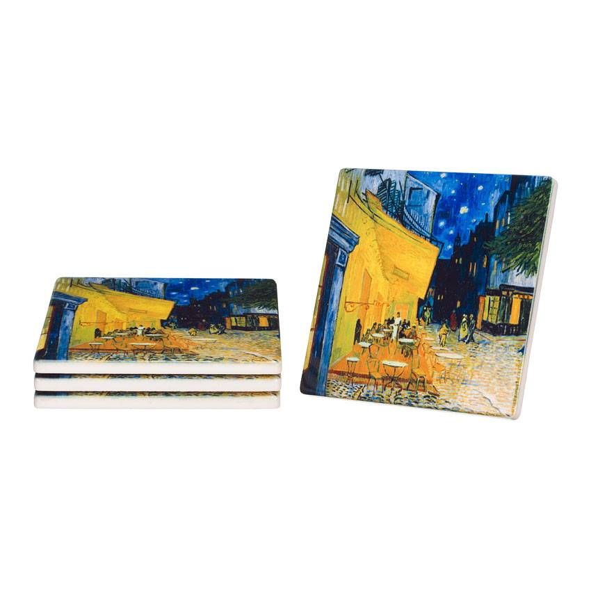 Ceramic Coasters 'Terrace of a Café at Night' - Vincent van Gogh