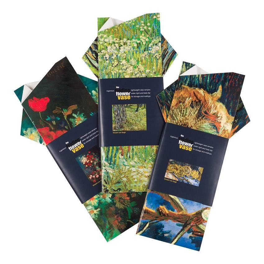Folding Flower Vase 'Meadow Flowers and Roses' - Vincent van Gogh
