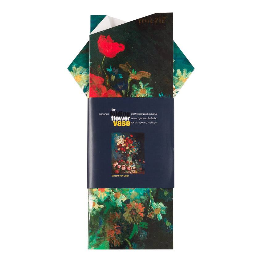 Folding Flower Vase 'Akkerbloemen en Rozen' - Vincent van Gogh