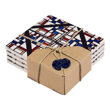 Ceramic coasters - Theo van Doesburg