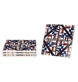 CERAMIC COASTERS 'STAINED GLASS' THEO VAN DOESBURG