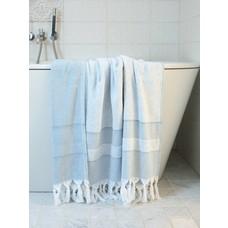 Ottomania hamamdoek met badstof jeansblauw
