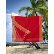 PURE Kenya kikoy handdoek red orange