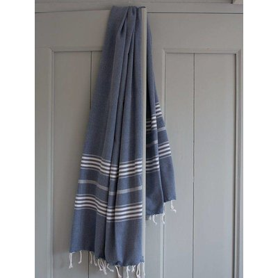 Ottomania hamamdoek XL marineblauw