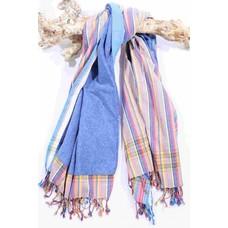 PURE Kenya kikoy strandlaken stripes blue stripes taupe