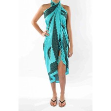 Pareo Flower turquoise seagreen