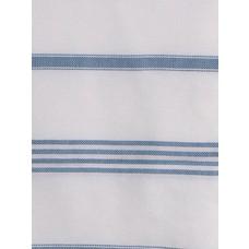 Ottomania hamamdoek Ganga wit jeansblauw