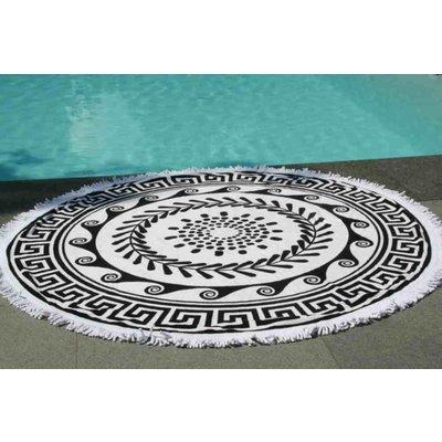 Call it Fouta! Greek Roundie black & white