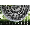 Call it Fouta! Greek Roundie d'Luxe black & white - badstof