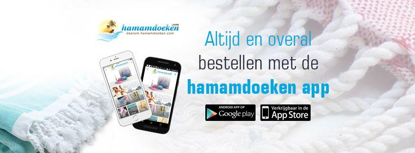 Hamamdoeken.com lanceert de hamamdoeken shopping app voor je mobiel