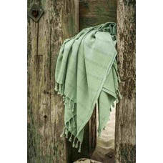 Hamams own hamamdoek Stone denim green